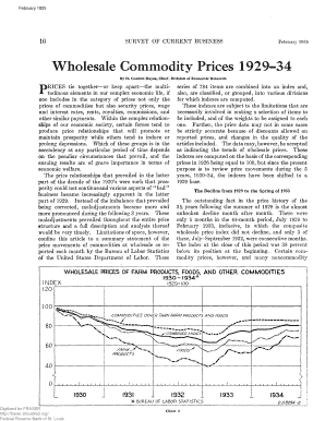 Fillable Online Wholesale Commodity Prices 1929-1934 ...