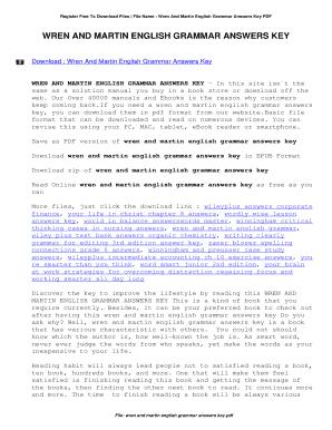 wren and martin key pdf free download