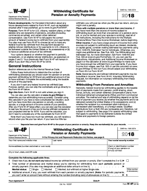 2018 Form IRS W-4P Fill Online, Printable, Fillable, Blank ...