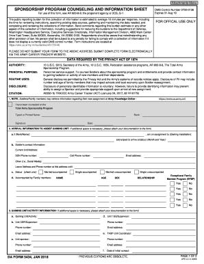 437351186 Da Form Sponsorship Examples on