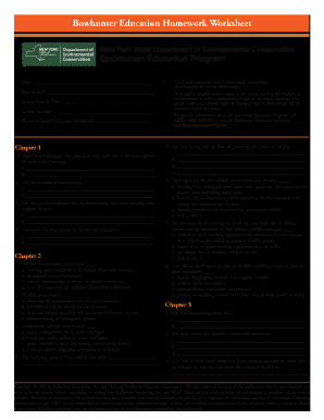 Fillable Online New York Hunter Student Manual and Worksheet ...