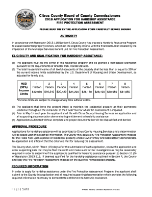 Fillable Online Hardship Exemption Application FY 18-19