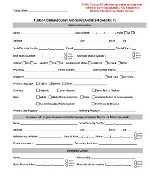 Fillable Online Armstrong Dermatology Patient Form  Patient