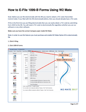 Fillable Online How to E-File 1099-B Forms to IRS Fax Email Print