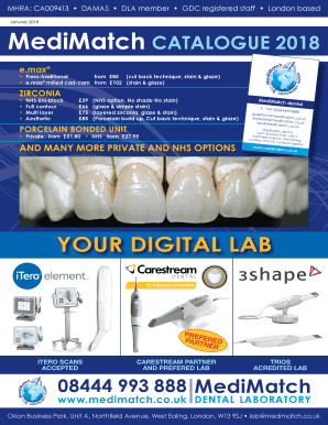 Fillable Online your digital lab - MediMatch Fax Email Print