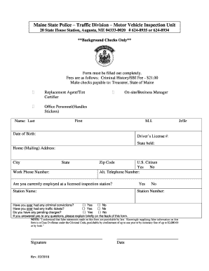 fillable online maine state police traffic division motor vehicle