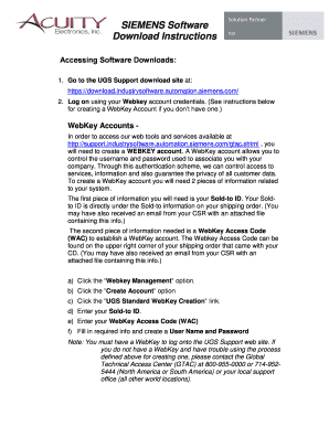 Fillable Online SIEMENS Software Download Instructions Fax