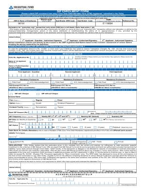 Fillable Online SIP Enrolment & One Time Debit Mandate Form