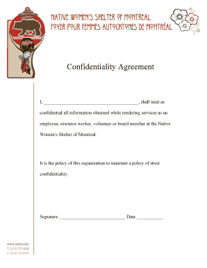 Fillable Online Service Provider Confidentiality Agreement Hse Fax