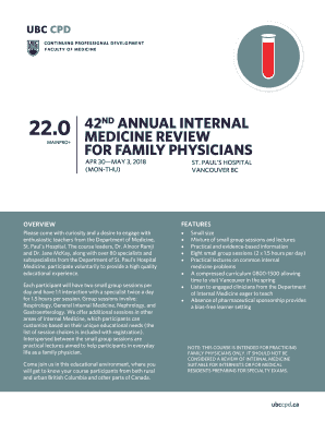 Fillable Online 42nd annual internal medicine review for family