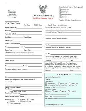 44107461 Online Thailand Visa Application Form Desh on