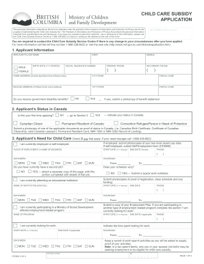 childcare subsidy bc forms pdf
