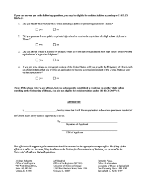 Editable affidavit of residency illinois fill print download illinois residency affidavit form altavistaventures Image collections