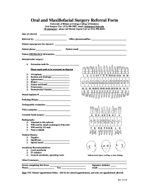 Uic Oral Surgery Referral - Fill Online, Printable, Fillable, Blank Medical Exemption Form Uic on