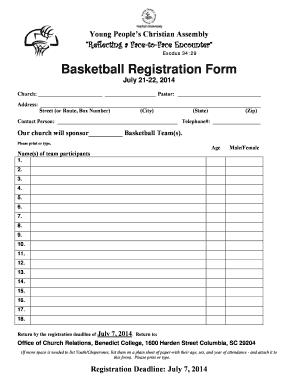 Print Tournament Registration Fill Online Printable