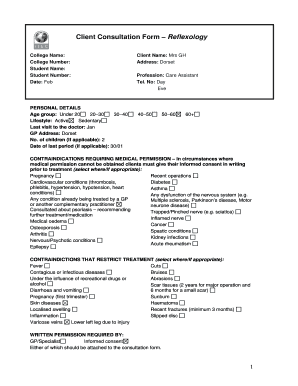 Itec Consultation Form - Fill Online, Printable, Fillable, Blank ...