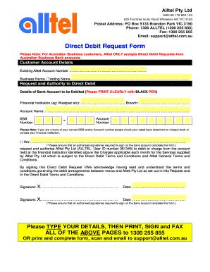 direct debit request form westpac