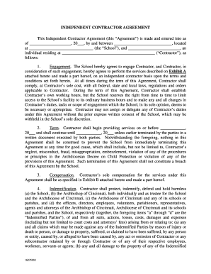 Editable Independent Contractor Agreement Fill Print Download
