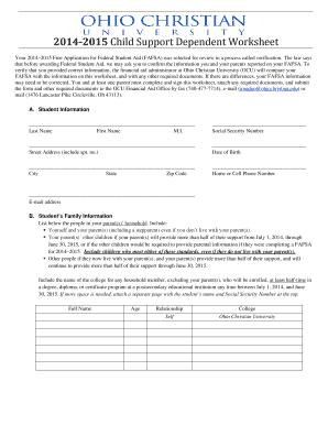 Dependent Support Worksheet Worksheets For School - Studioxcess