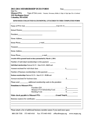 pta membership card template - blank unit circle chart forms and templates fillable