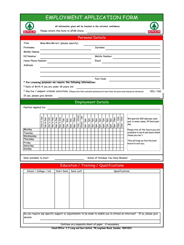 Spar Sms Number For Job Application Fill Online Printable Fillable Blank Pdffiller