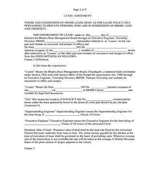 Lease Deed Format In Hindi Pdf Edit Print Fill Out Download