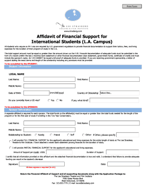 West Hollywood Affidavit Form - The Lee Strasberg Theatre and Film ...