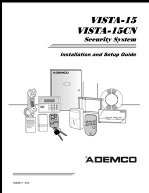 fillable online vista 15 and vista 15cn installation manual rh pdffiller com vista 15 user manual Quick Installation Guide