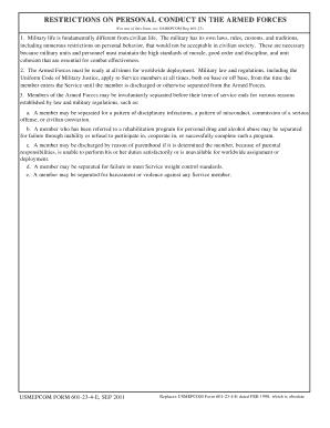 Fillable Online cnrc navy USMEPCOM FORM 601-23-4-E, OCT 2010 Fax ...