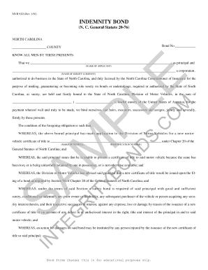 Lost Title Bond - Fill Online, Printable, Fillable, Blank | PDFfiller