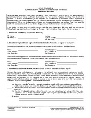 Bill Of Sale Form Arizona General Power Of Attorney Form Templates