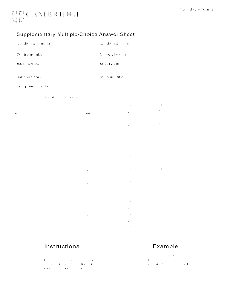 answer sheet template 1 100 word