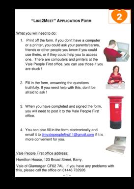 Fillable Online valepeoplefirst org Download form for