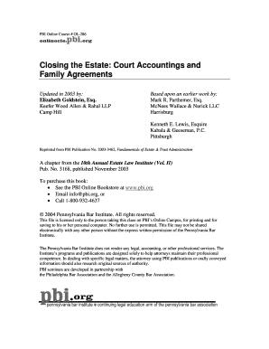 Family Settlement Agreement Pennsylvania Sample Fillable