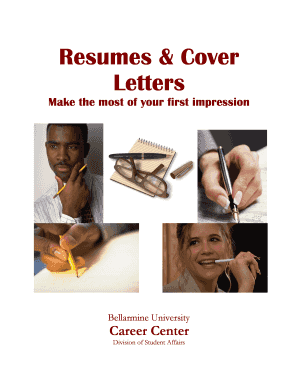 Resumes & Cover Letters - Bellarmine University