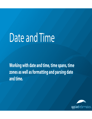 Working With Date And Time Spans