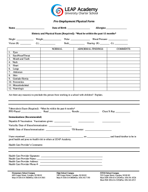 photo regarding Pre Employment Physical Forms Printable named Printable posting supply healthcare questionnaire - Edit, Fill Out