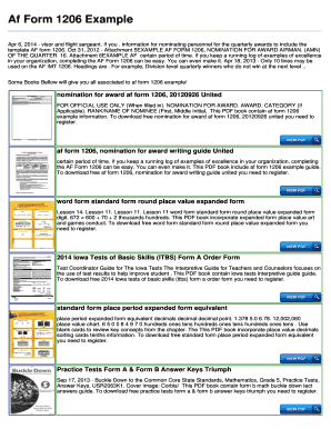 Fillable Online Af Form 1206 Example - ReaderDoc.Com Fax Email ...