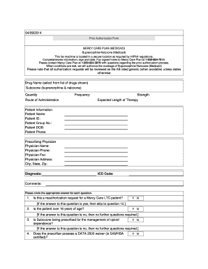 Fillable Online Prior Authorization Criteria Form - Mercy Care ...