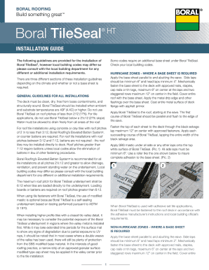 fillable online boral tileseal installation guide fax