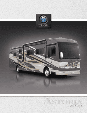 2012 Astoria Motorhome Class A RV Sales Literature by Thor Motor Coach PDF Sales Brochure