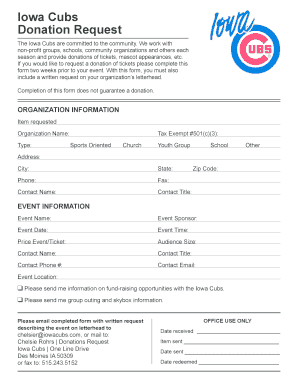 Request For Donation Letter Template Forms - Fillable & Printable ...