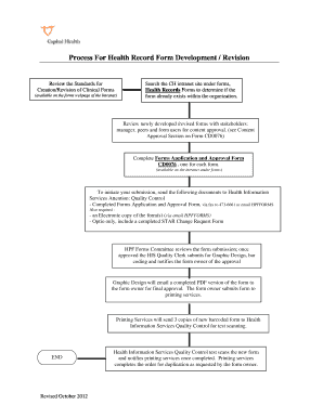 Health Record Form Development Process Flow Chart