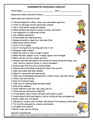 Sly image with regard to kindergarten readiness checklist printable