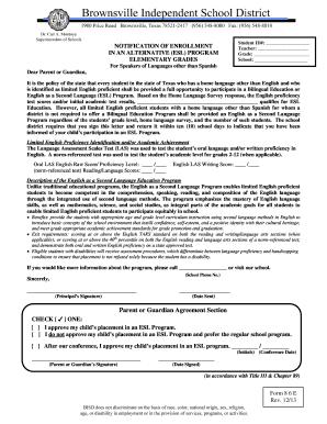 esl teacher cover letter sample 8 6 e notification of enrollment in an alternative esl - Esl Teacher Cover Letter