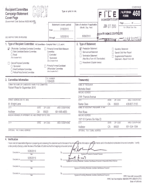 Fillable Online sbcvote California Form 460 Robert Rivas - San ...