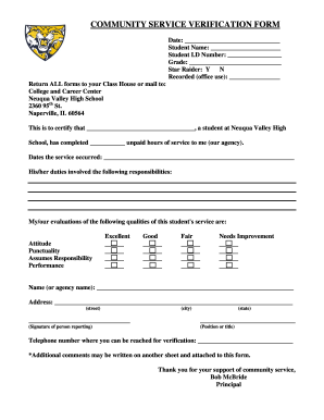 High school community service form fill online printable high school community service form altavistaventures Images