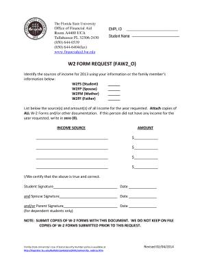w2 form uiuc  Fillable Online finaid fsu W9 Form request - Florida State ...