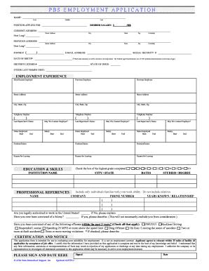 Free general employment application pdf
