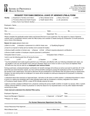 Family Leave Of Absence Form - Fill Online, Printable, Fillable ...